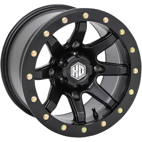 Solid Matte Black Rear Comp Lock HD9 Wheel - 15HB92310