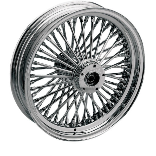 Drag Specialties Chrome 21 x 2.15 Fat Daddy 50-Spoke Radially Laced Wheel for Single Disc - 0203-0255
