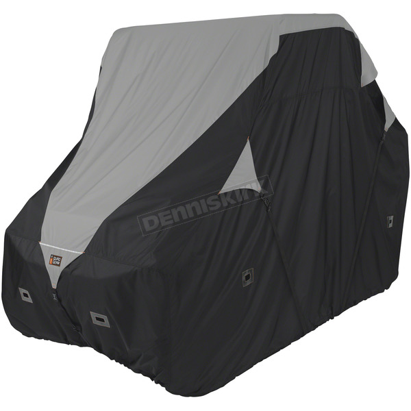 Classic Accessories Black/Gray Larger 2-3 Passenger UTV Deluxe Storage Cover - 18-065-053801-0