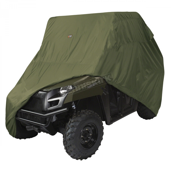 Classic Accessories Olive Drab Mid Sized 2 Passenger UTV Storage Cover - 18-074-041401-0