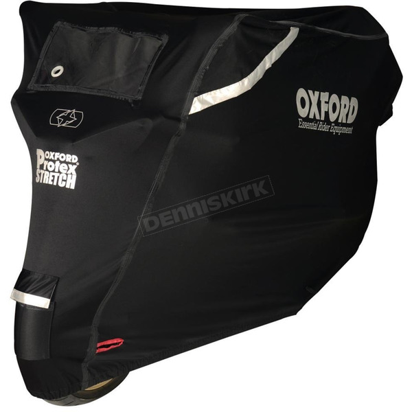 Black Protex Stretch Premium Outdoor Motorcycle Cover - CV162