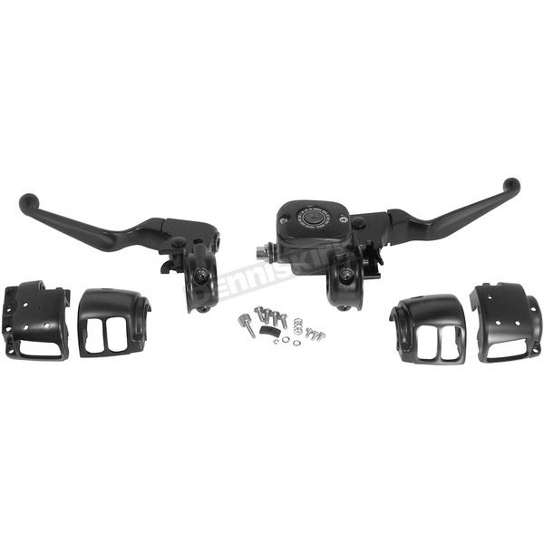Black 9/16 in. Handlebar Control Kit w/o Switches - 44753