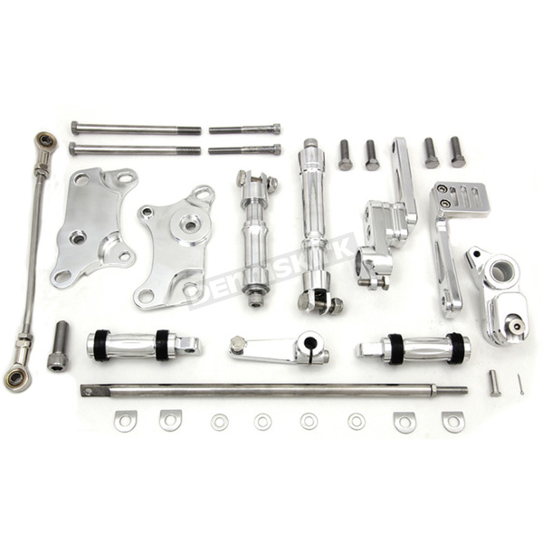 V-Twin Manufacturing Polished Forward Control Kit - 22-0785
