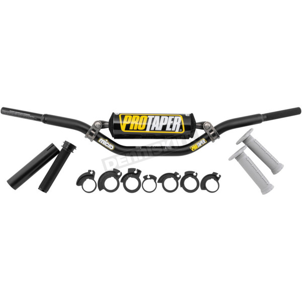 Pro Taper Black Micro Cobra Jr Handlebar Kit - 02-5063