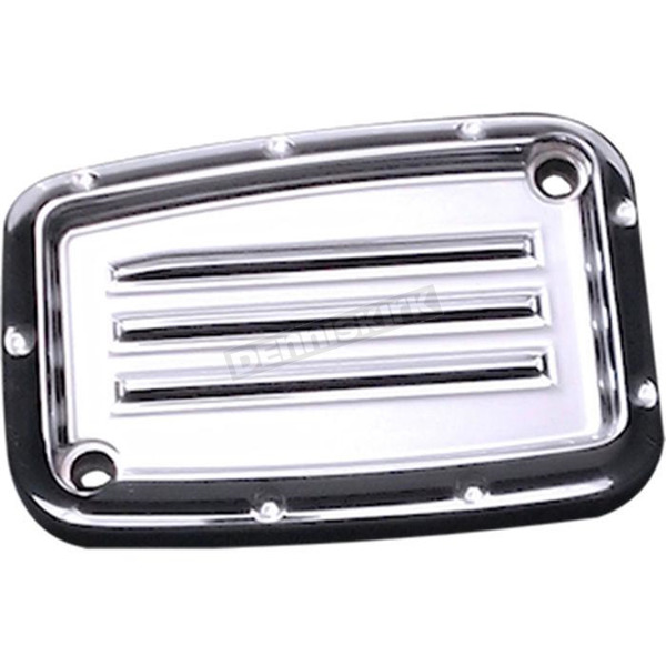 Covingtons Customs Chrome Dimpled Front Brake Master Cylinder Cover - C1176-C