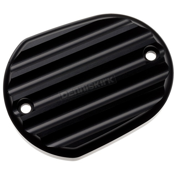 Black Finned Front Master Cylinder Cover - 10-380-1