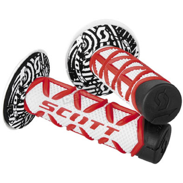 Scott Red/White Diamond Grips w/Donut - 219626-1005