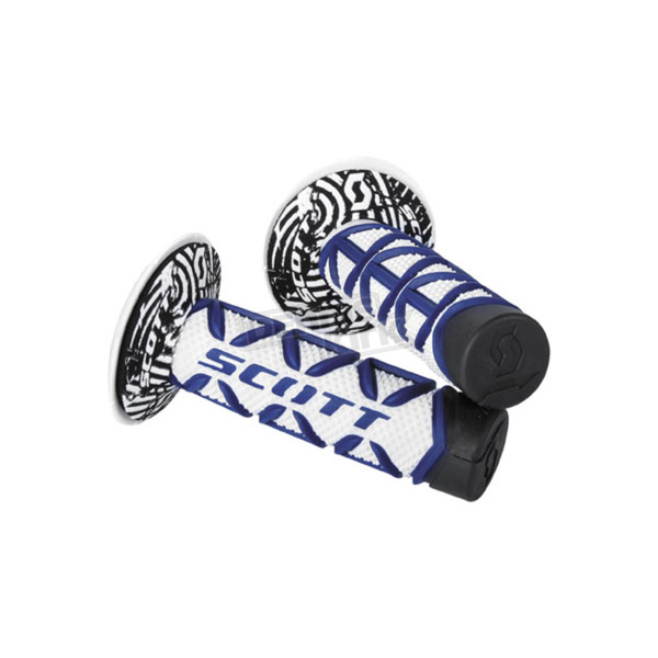 Scott Blue/White Diamond Grips w/Donut - 219626-1006