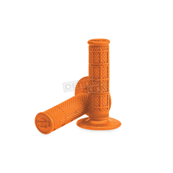Pro Taper Orange 1/3 in. Waffle Grips - 02-4014