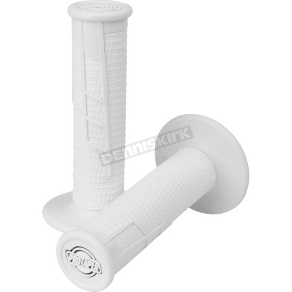 Pro Taper White Clamp-On 1/2 Waffle Grips - 021670