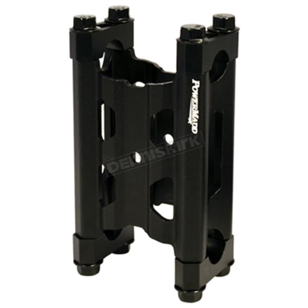 Black 4 in. Narrow Pivot Risers w/Bolts and Clamps - 45740