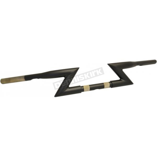 Flat Black 1 1/4 in. Z-Bar Style Handlebar - LA-7310-00M