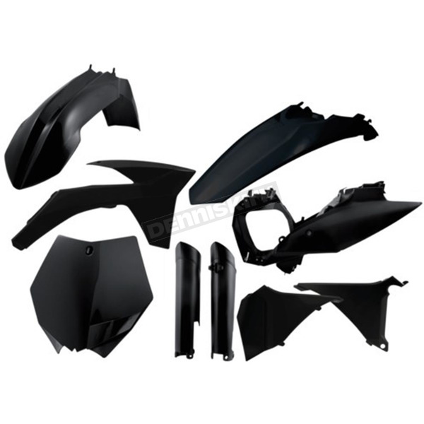 Acerbis Black Full Replacement Plastic Kit - 2205280001