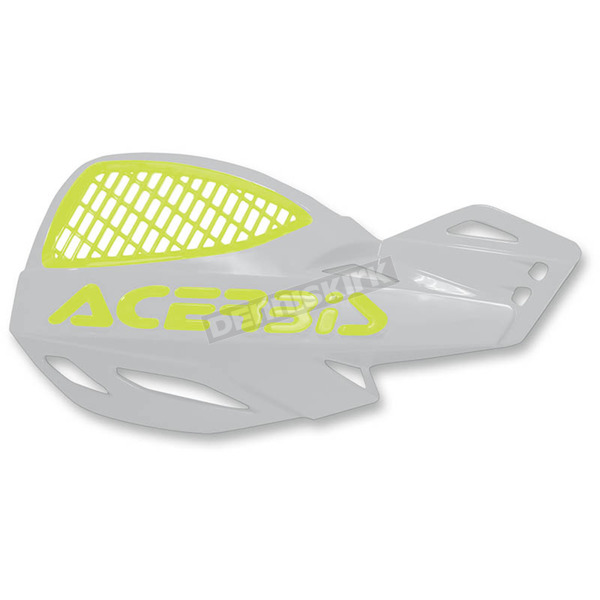 Acerbis White/Fluorescent Yellow LogoVented Uniko Handguards - 2072675331