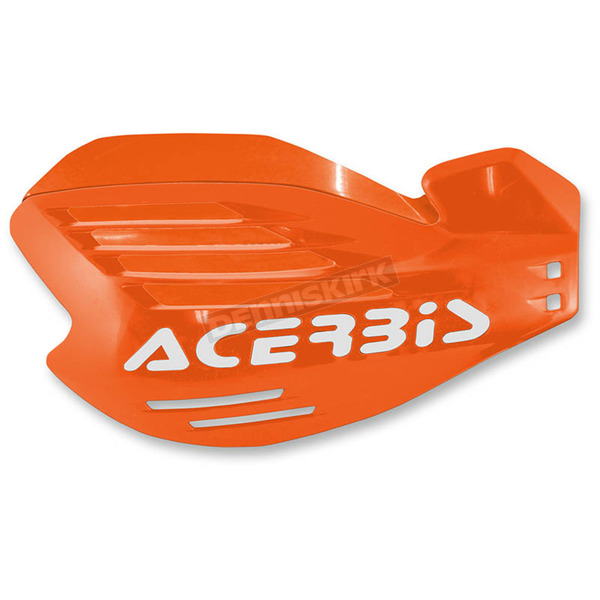 Acerbis Orange/White X-Force Handguards - 2170325321