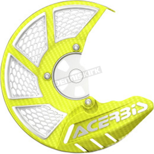 Acerbis Fluorescent Yellow/White X-Brake 2.0 Vented Front Disc Cover - 2449494310