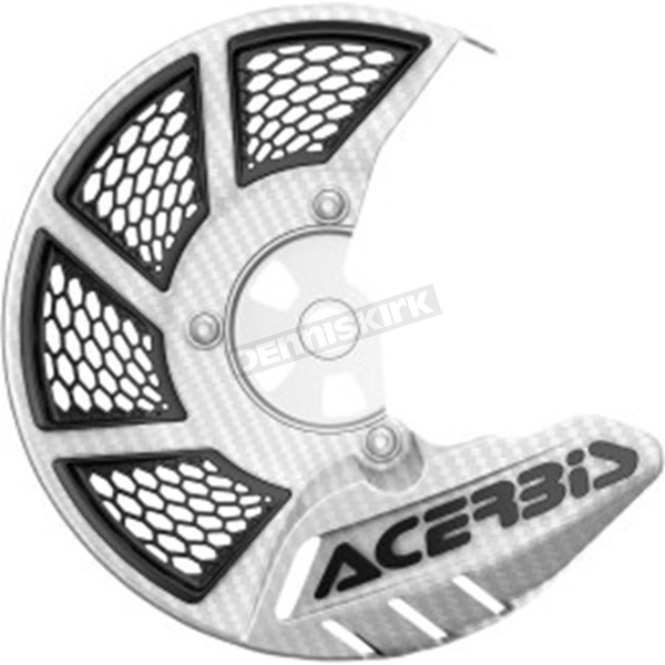 Acerbis White/Black X-Brake 2.0 Vented Front Disc Cover - 2449490002