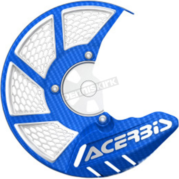 Acerbis Blue/White X-Brake 2.0 Vented Front Disc Cover - 2449490211
