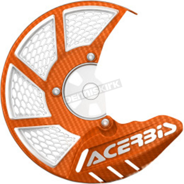Acerbis Orange/White X-Brake 2.0 Vented Front Disc Cover - 2449495226