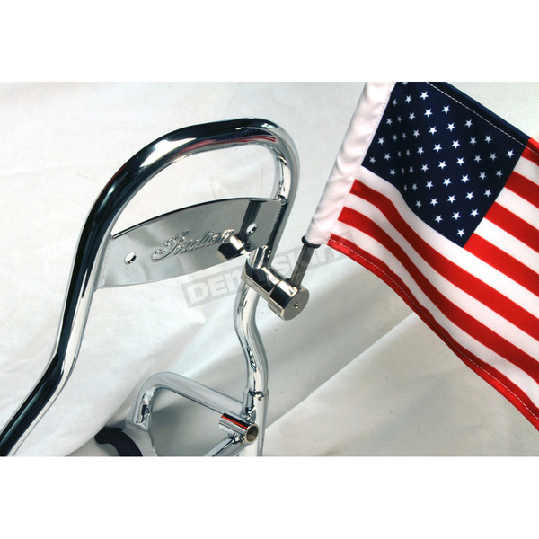 Pro Pad Indian Sissy Bar Flag Mount w/6 in. x 9 in. Flag - RFM-RDSB765IN