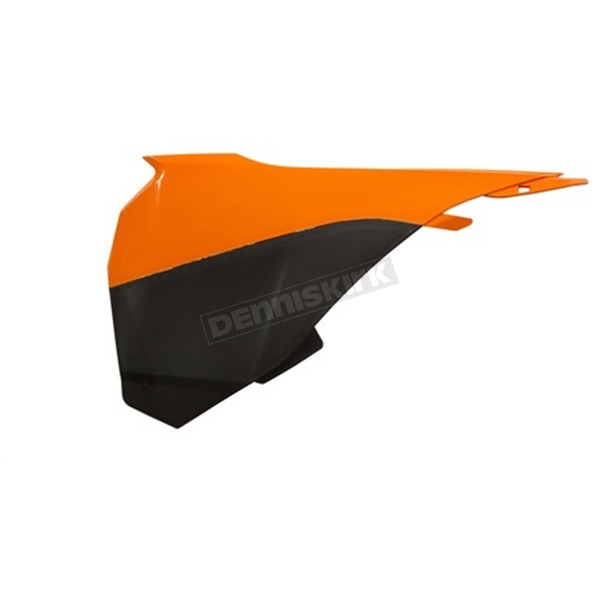 Acerbis 2016 Orange/Black Left Side Air Box Cover - 2314285225