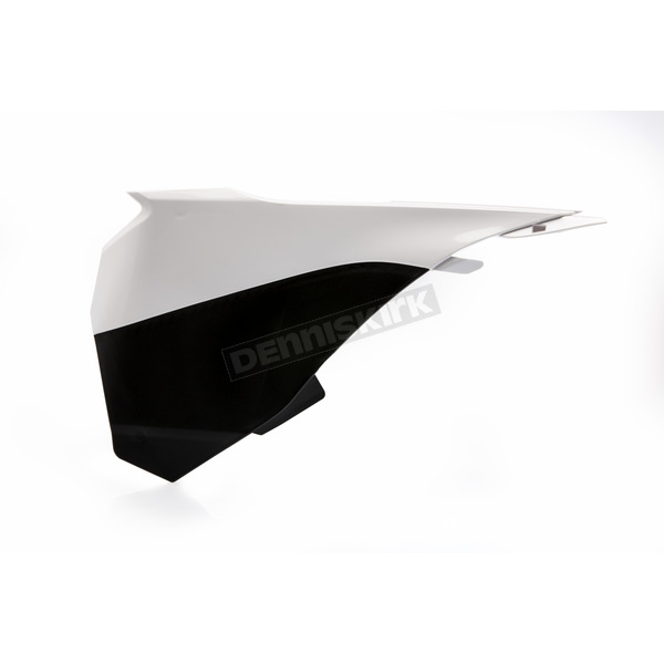 Acerbis White/Black Left Side Air Box Cover - 2314281035