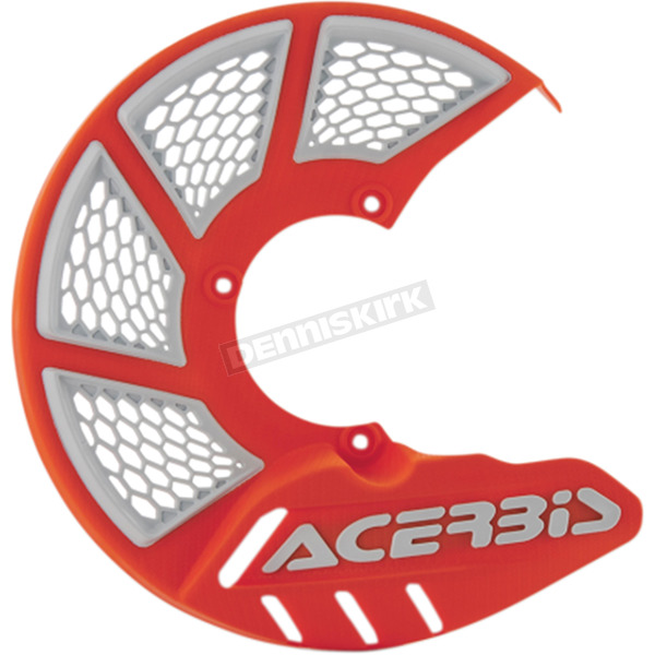 Acerbis 2016 Orange/White X-Brake Disc Cover - 2630555321