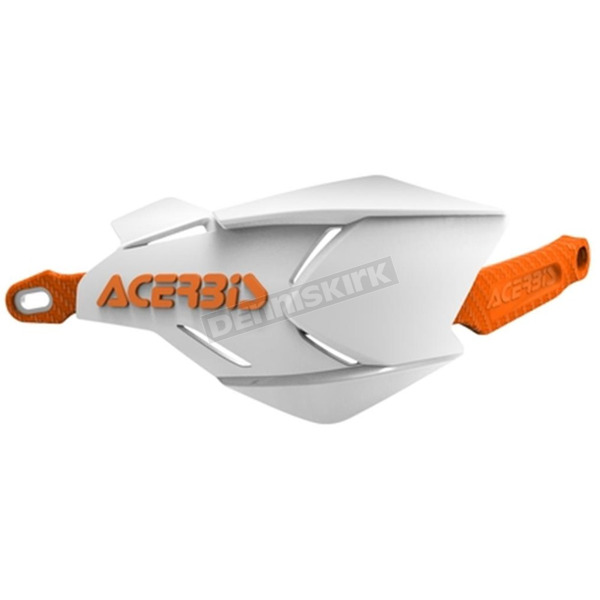 Acerbis White/Orange X-Factory Handguards - 2634661088