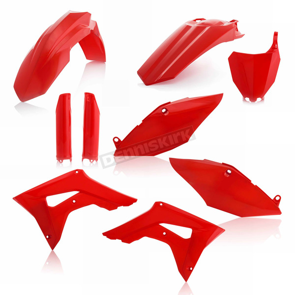 Acerbis 00 CR Red Replacement Full Plastic Kit - 2630700227