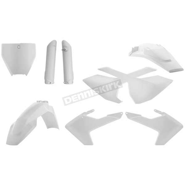 Acerbis White Full Replacement Plastic Kit - 2462600002