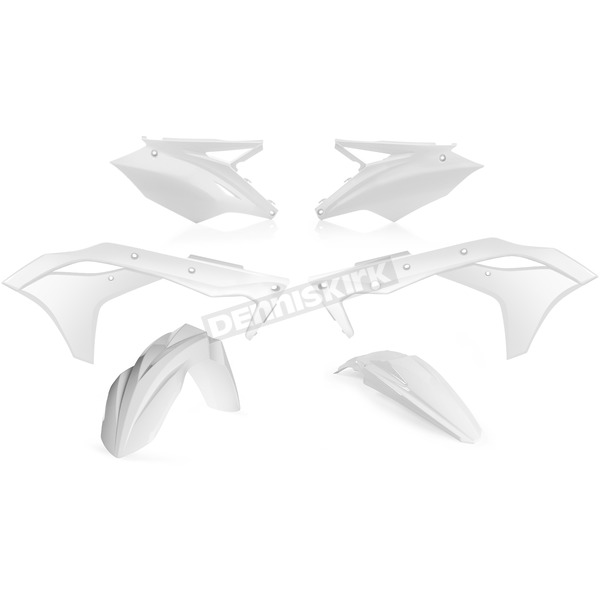 Acerbis White Standard Replacement Plastic Kit - 2630620002
