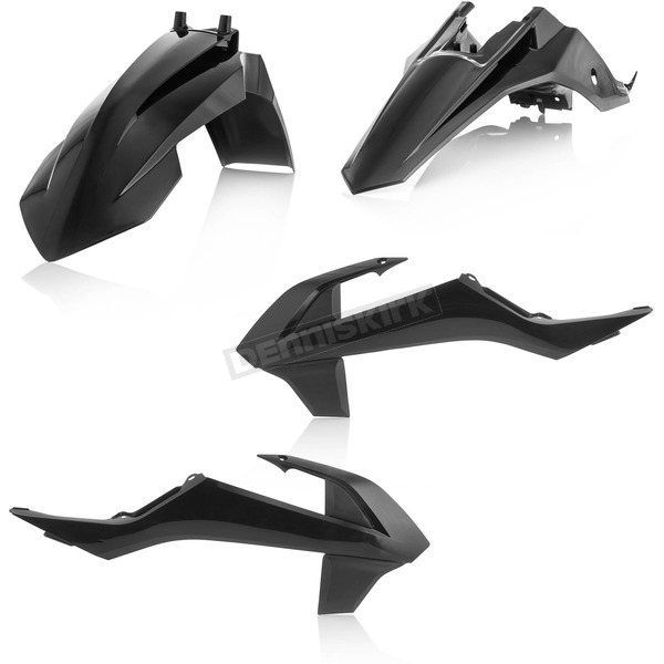 Acerbis Black Standard Replacement Plastic Kit - 2449620001