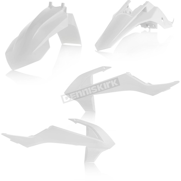 Acerbis White Standard Replacement Plastic Kit - 2449620002