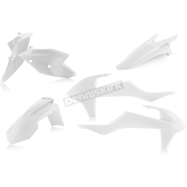 Acerbis White Standard Replacement Plastic Kit - 2634060002