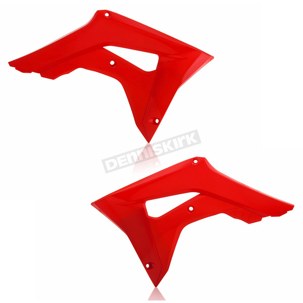 Acerbis Red Radiator Shrouds - 2630660227