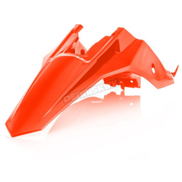 Acerbis 2016 Orange Rear Fender/Side Cowlings - 2449665226