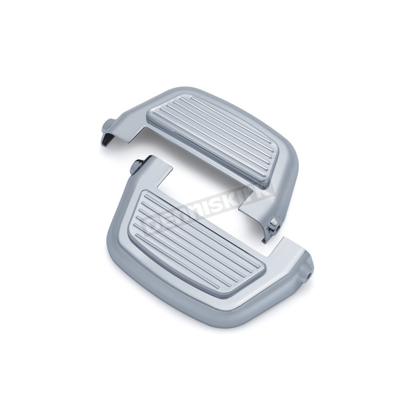 Kuryakyn Chrome Finned Passenger Board Covers - 8876