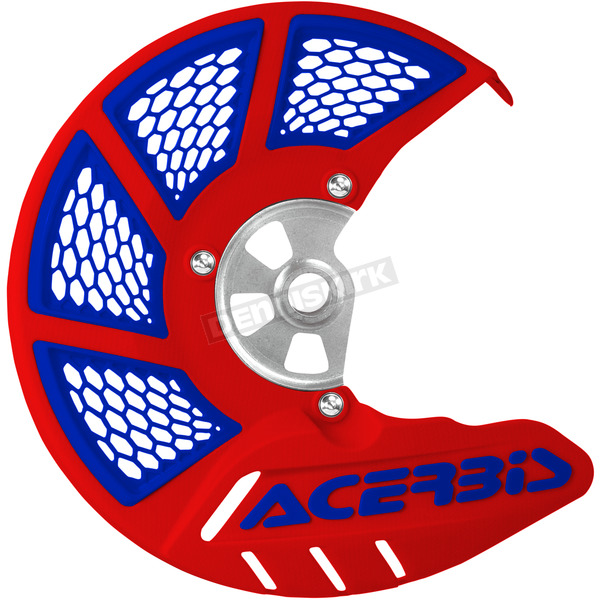 Acerbis Patriot Red/Blue X-Brake Vented Front Disc Cover - 2449491228