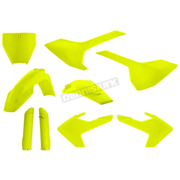 Acerbis Fluorescent Yellow Full Replacement Plastic Kit - 2462604310