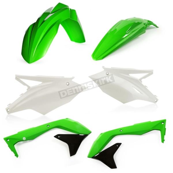 Acerbis OEM 18 Green/White/Black Standard Plastic Kit - 2685835909