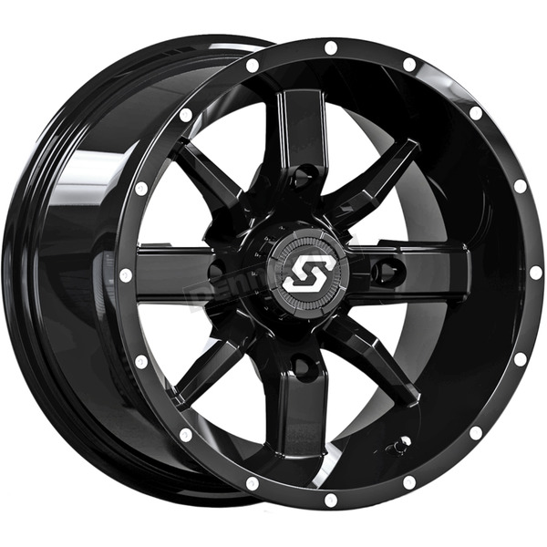 Sedona Black Front/Rear Hollow Point 14x8 Wheel - 570-1332