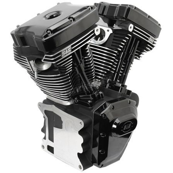S&S Cycle T124 High Compression Long Block Black Engine - 310-0900