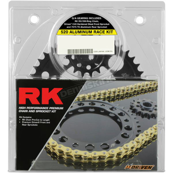 RK Gold Suzuki GB520XSO Quick Acceleration Chain with Steel Sprocket - 3066-069PG