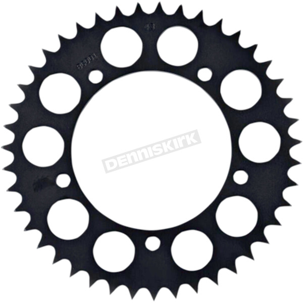 British Customs Textured Black Retro Style Rear Sprocket - BC705-001-43-B