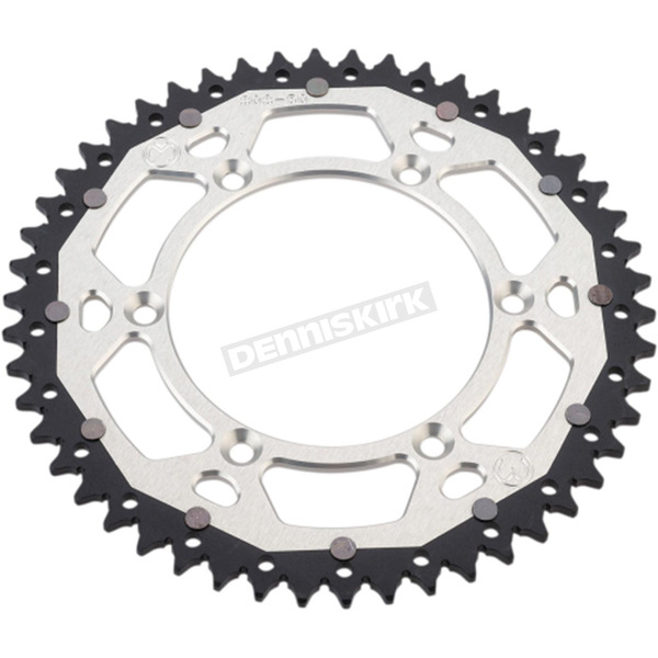 Moose 49 Tooth Silver Dual Rear Sprocket  - 1210-1518