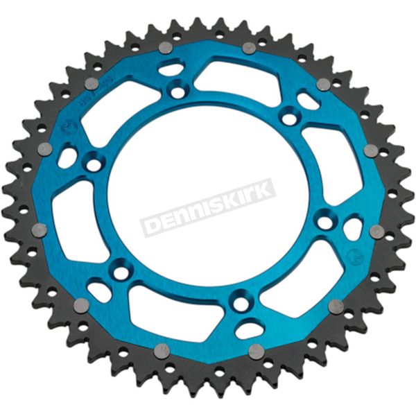 48 Tooth Blue Dual Rear Sprocket - 1210-1477