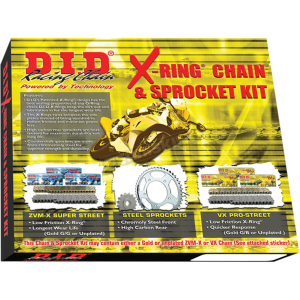 DID 520VX2 X-Ring Chain and Sprocket Kit - DKK-017