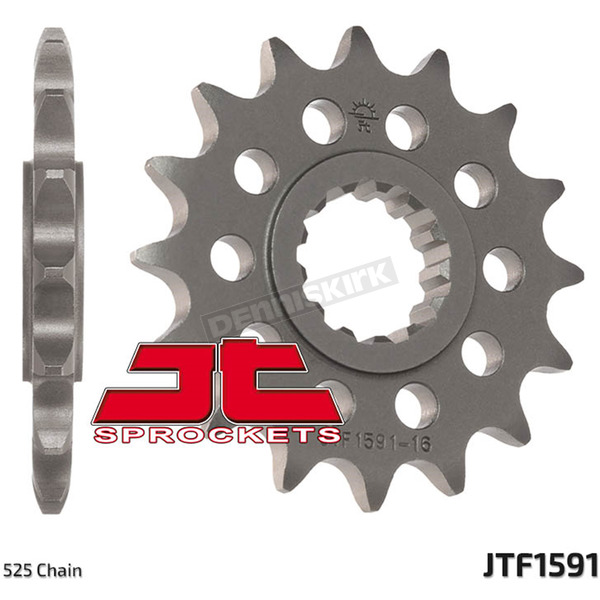 JT Sprockets Front Chromoly Steel Alloy 525 15 Tooth Sprocket - JTF1591.15