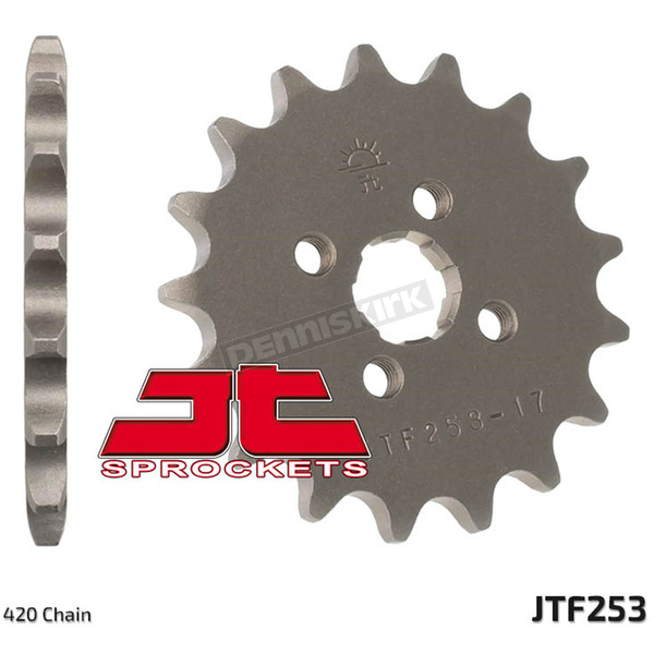 JT Sprockets Front Chromoly Steel Alloy 420 17 Tooth Sprocket - JTF253.17