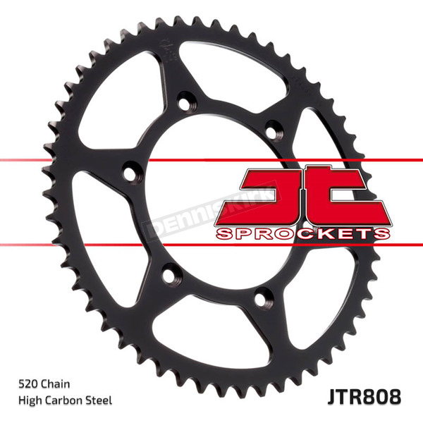 JT Sprockets Rear 520 43 Tooth C49 High Carbon Steel Sprocket - JTR808.43